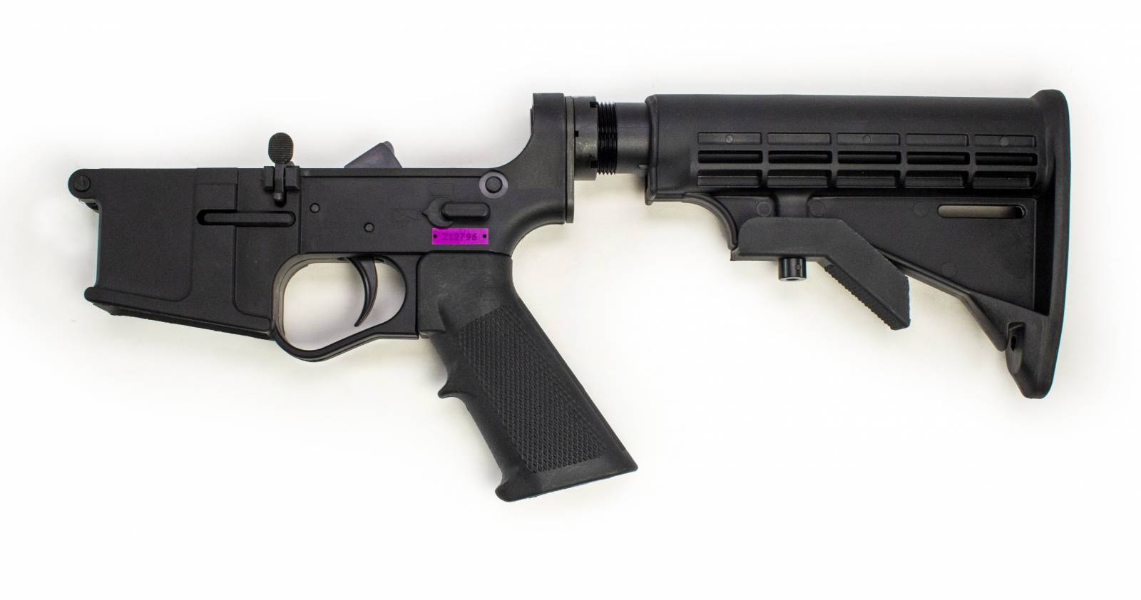 E3 Arms Plumcrazy Gen II AR 15 Complete Lower Receiver with Polymer Buffer Tube