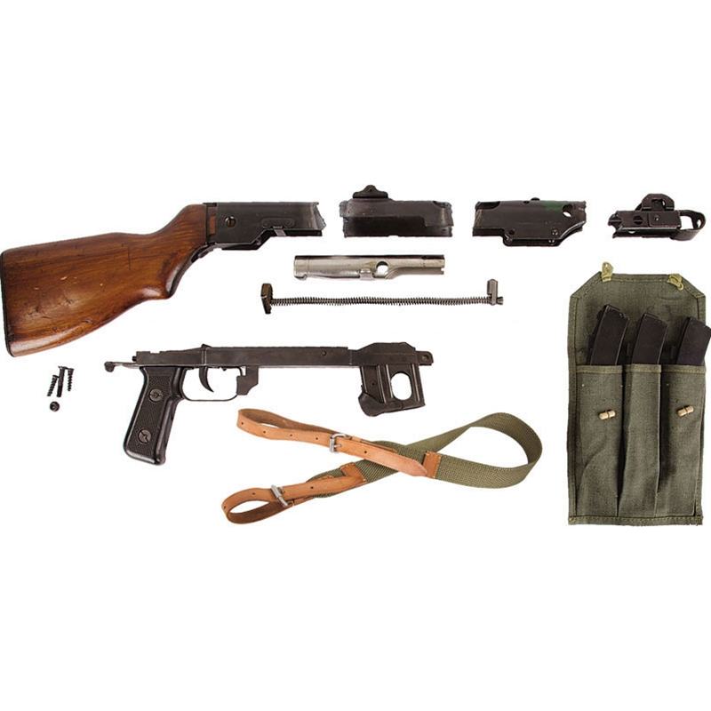 Polish PPS43-52 7.62x25mm Parts Kit with (3) 35rd Mags, 3-Cell Mag Pouch & PPS43 Sling